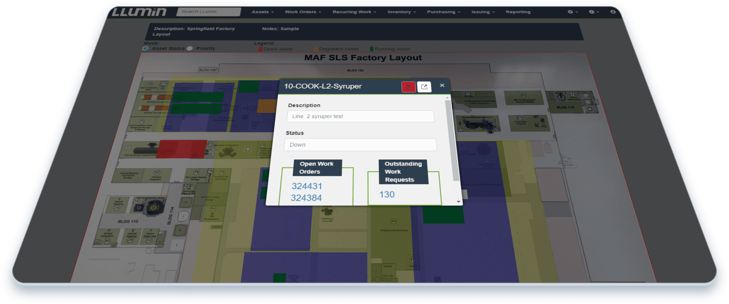 Device - Asset Facility View